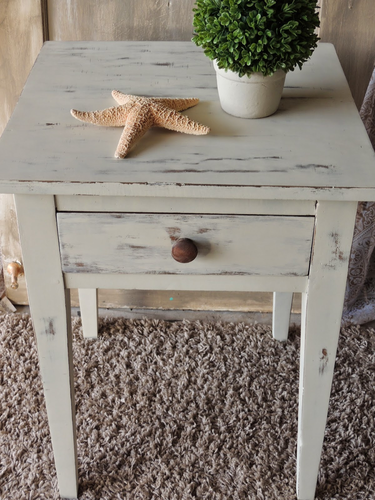 LE CHALK chalk painted nightstand farm table