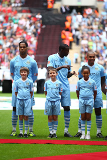 Kian with Yaya Toure - Community Shield 2011