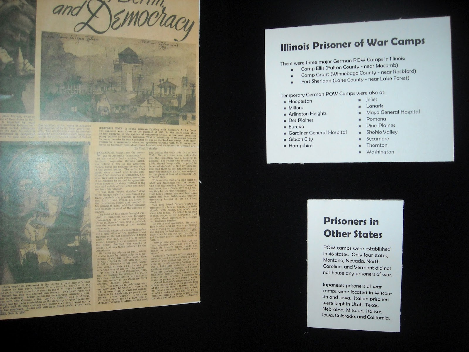 Illinois fulton county vermont - Illinois Had 3 Major German Prisoner Of War Camps Fort Sheridan Being One Of Them Wisconsin Had A Japanese Pow Camp