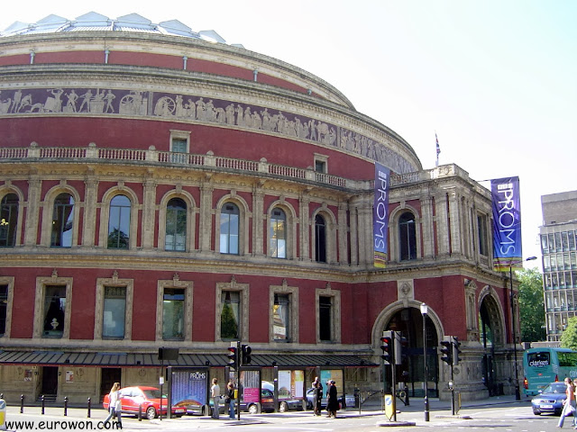 Royal Albert Hall de Londres visto de cerca