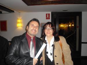 Amelia Díaz -Tras la presentación de su libro en el Ateneo.