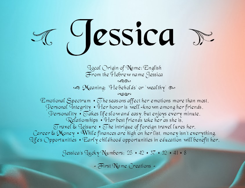 Free Jessica Name Coloring Pages