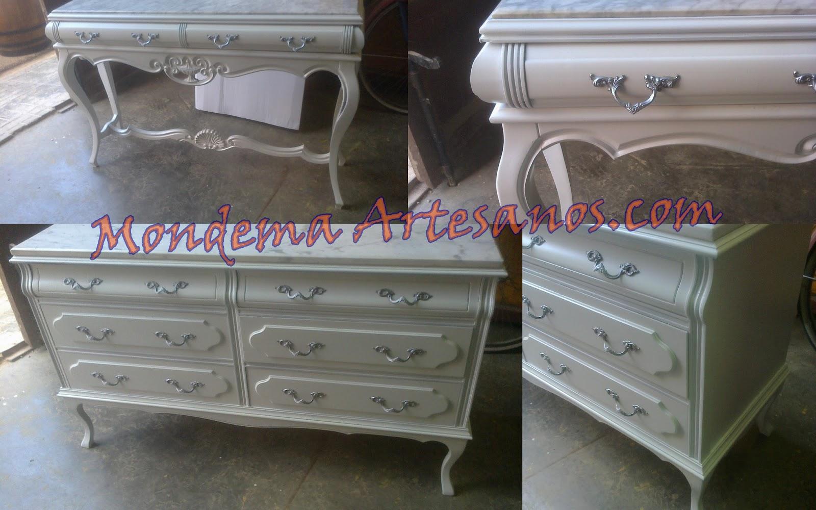 Muebles antiguos lacados en blanco dise os - Pintar muebles de madera en blanco lacado ...