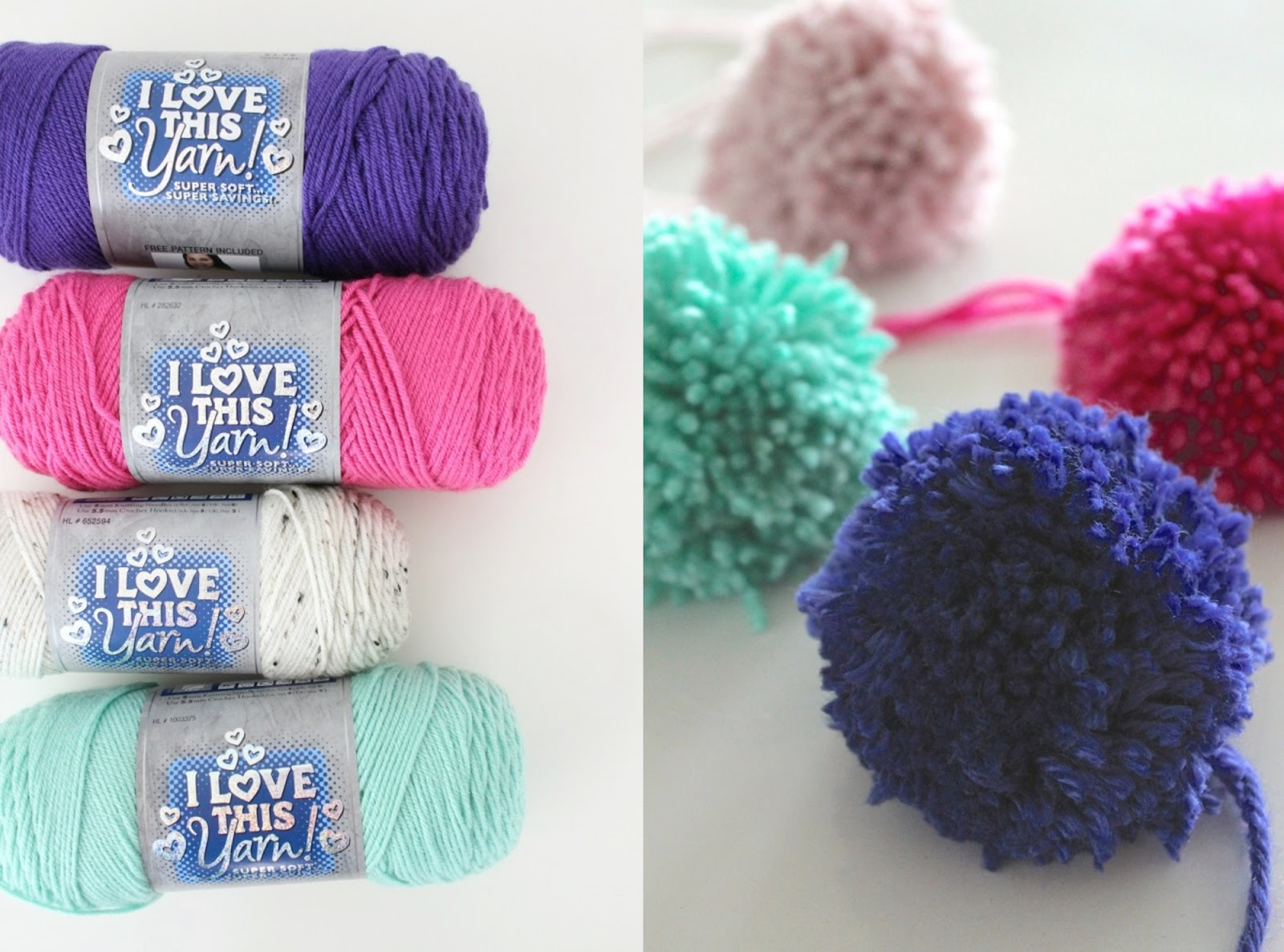 how to make yarn pom poms video