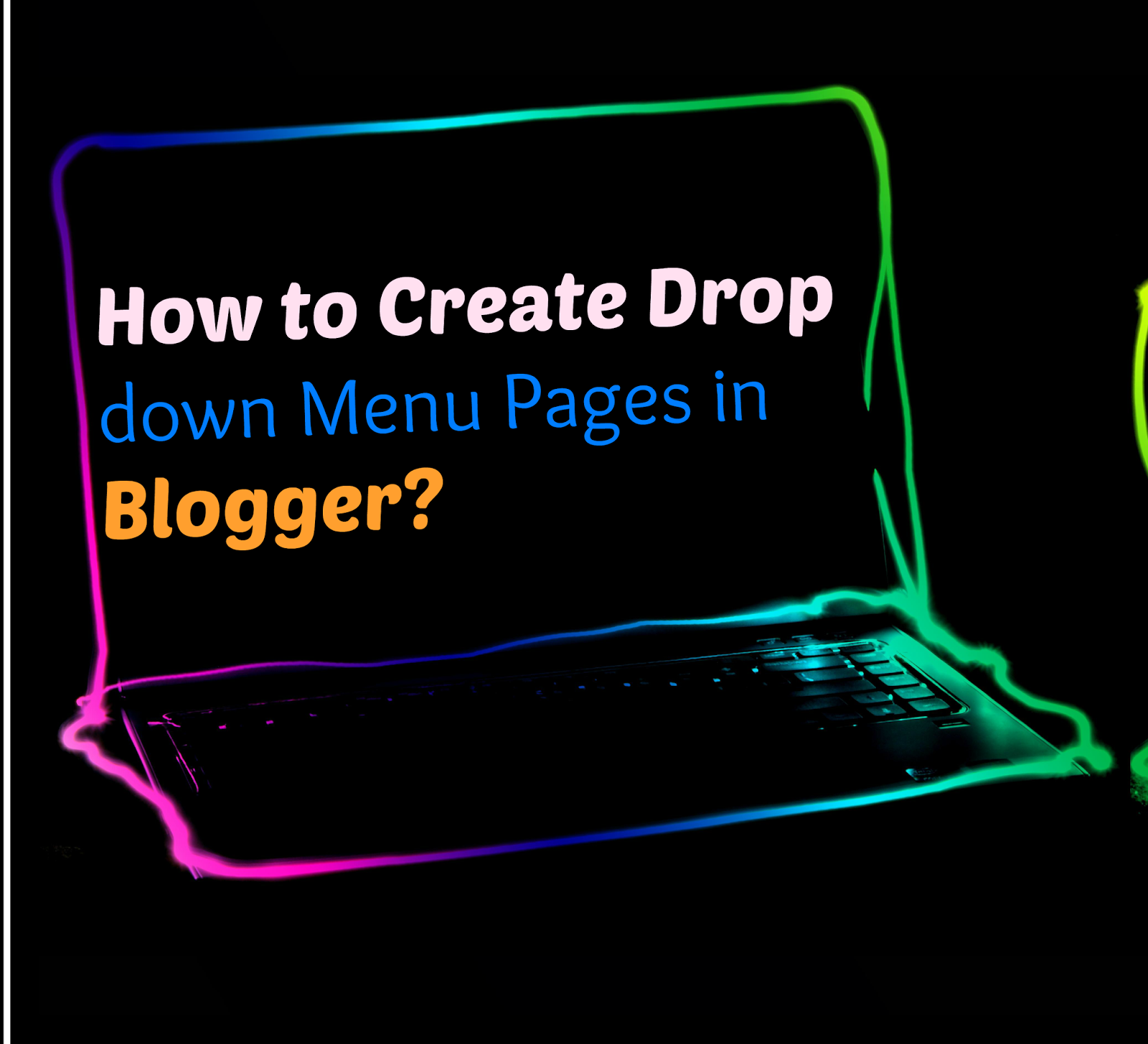 Drop down menu pages