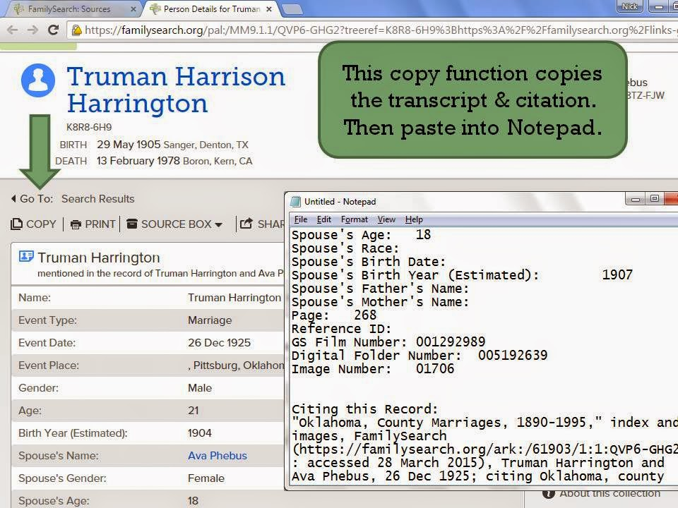 Ancestorpuzzles citing and organizing genealogy sources for specific advice on how to cite online sources beyond ancestry and familysearch see ms mills book evidence explained ccuart Choice Image