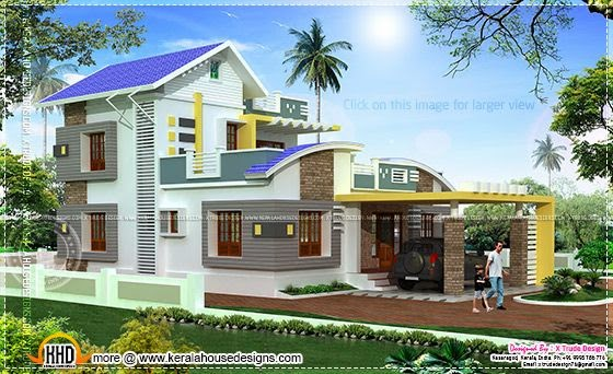 Colonial style house in kerala for Colonial style homes in kerala