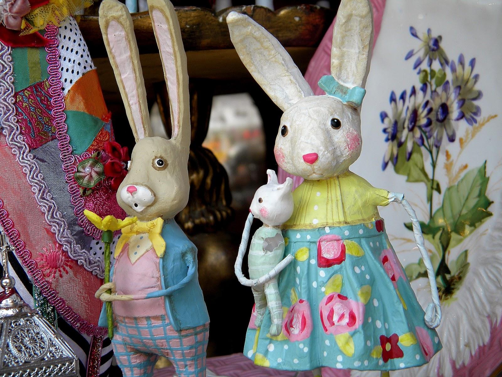 Vintage easter bunny decorations clip art public domain