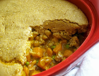 Crusted Cornmeal Chickpea Potpie