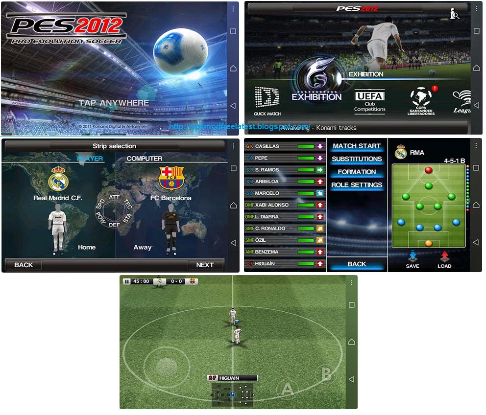 download game pes 2012 apk+data full version for android terbaru