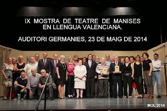 IX MOSTRA DE SAINETS EN LLENGUA VALENCIANA. MANISES 2014.