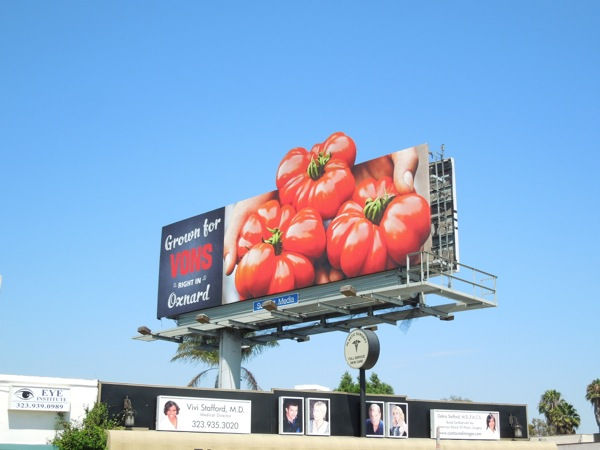 Grown for Vons in Oxnard tomatoes billboard