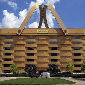 edificio raro en forma de canasta