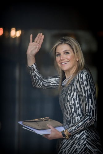 Queen Maxima of The Netherlands attends the lunch at Palace Noordeinde on April 10, 2015 in The Hague, The Netherlands