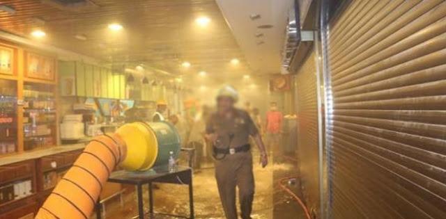 حريق ثان بمكة المكرمة  جرح 4 حجاج  و اجلاء 1500 اخرين