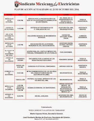 Plan de Accion Actualizado al 21 de Octubre de 2014