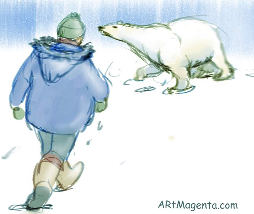 Polar bear from Artmagenta.com
