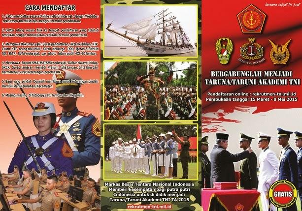 Loker Terbaru: Penerimaan Calon Taruna TNI 2015
