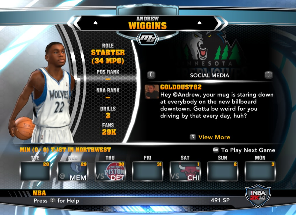 nba 2k14 Andrew Wiggins mycareer patch download hoopsvilla