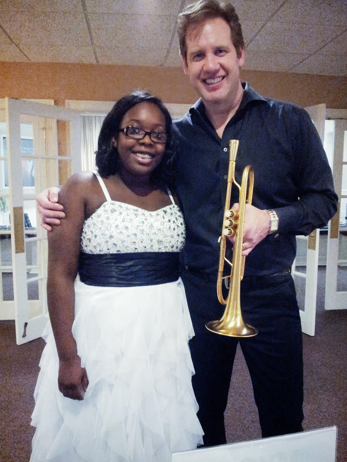 With Jazz Trumpeter Joe Gransden at the 2014 Symphony Gala and CD Release