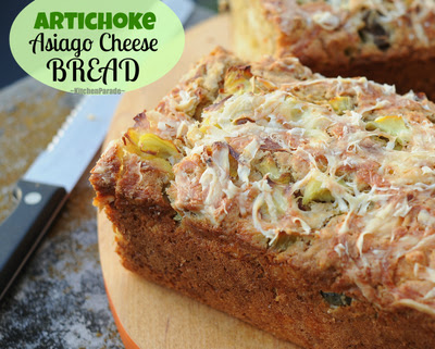 Artichoke Asiago Cheese Bread