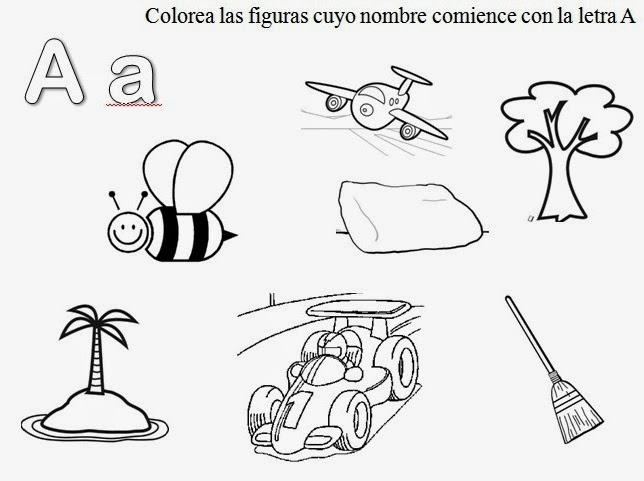 Dibujos que empiecen con la vocales para colorear - Imagui