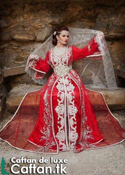 Caftan 2014  robe de mariée rouge unique :
