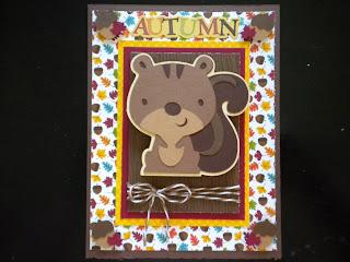 Cricut, Autumn Card, Create-A-Critter, Action Wobbles,
