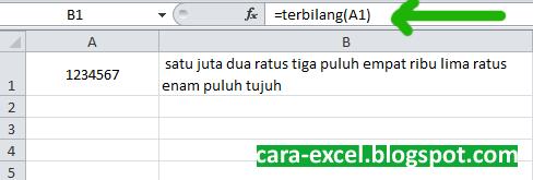 Cara Membuat Rumus Terbilang Excel
