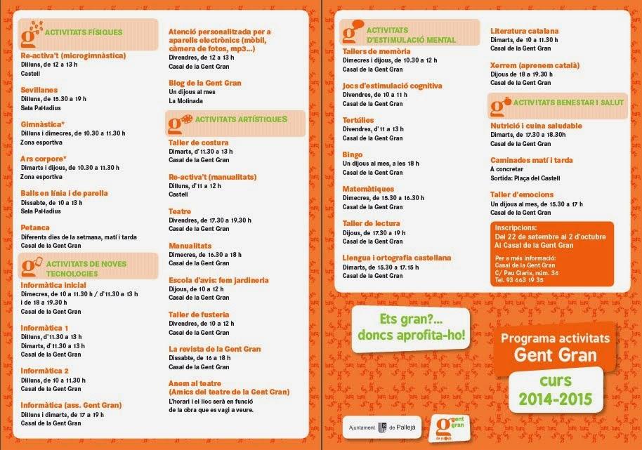 Programa Activitats GG