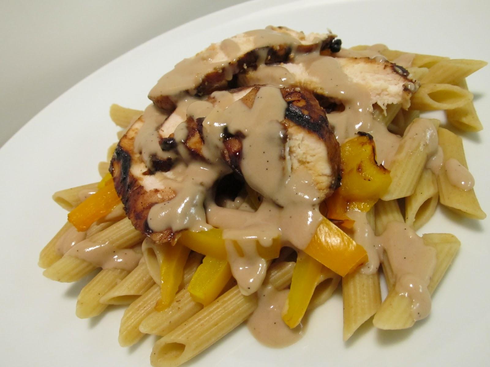 Jenn's Food Journey: Vanilla Balsamic Chicken over Pasta with Garlic ...