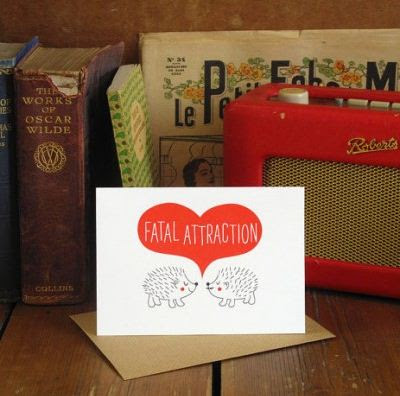 Hedgehog fatal attraction valentines card
