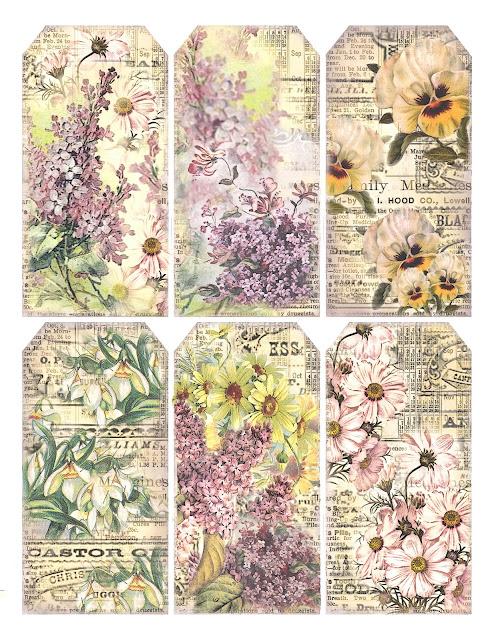 Gift+tags+advertisement+background+medicine+labels+floral+pastel