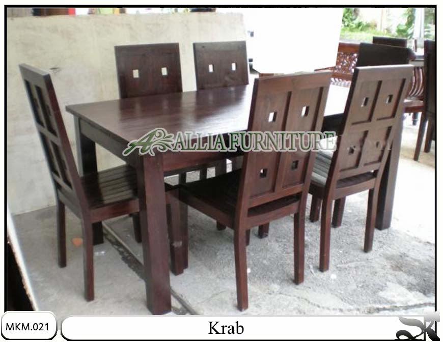kursi makan dan meja minimalis Krab