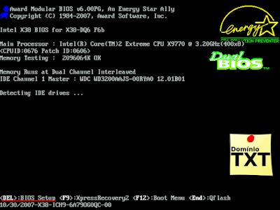DominioTXT - Configurar BIOS