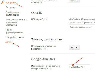 Как добавить кот счётчика Google Analytics на блог Blogger?