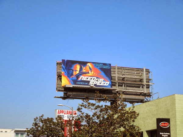 Need For Speed film billboard