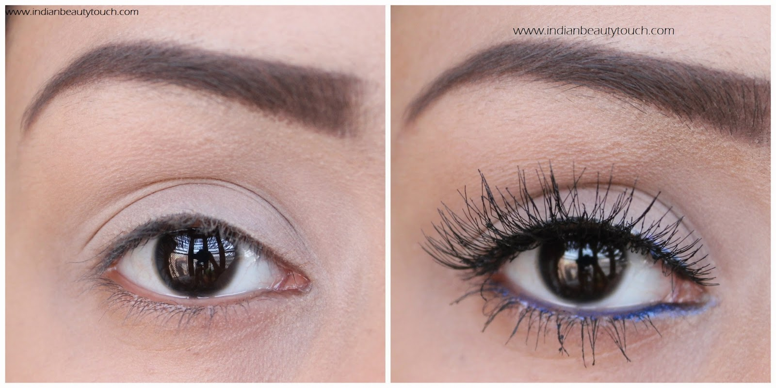 Step by step False eyelashes Tutorial for beginners