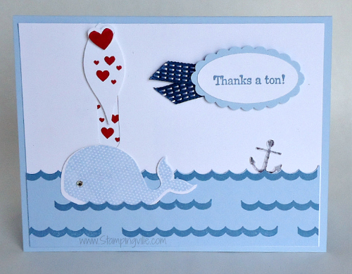 Stampin' Up! Oh, Whale! Thank You  card