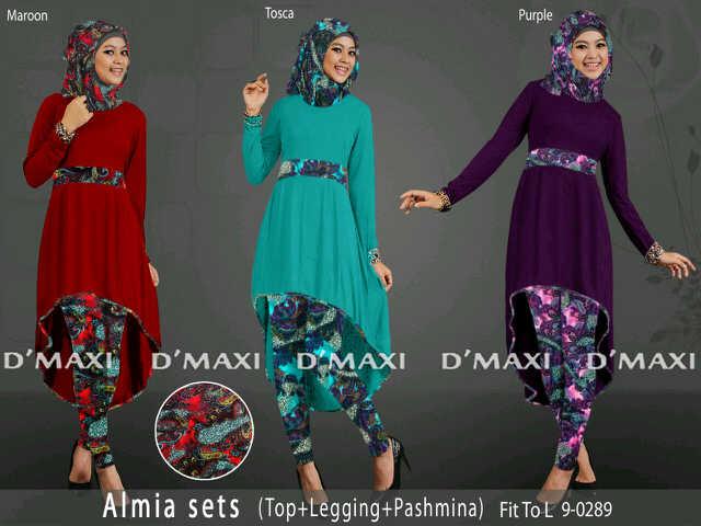 Ayuatariolshop distributor supplier tangan pertama Baju gamis almia terbaru