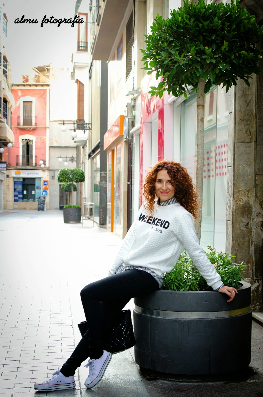 Sweatshirt message_Look sporty_sudadera