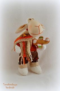Текстильная овечка. Барашек. Самолет