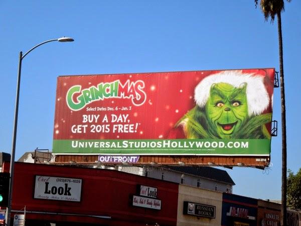 Grinchmas 2014 Universal Studios billboard