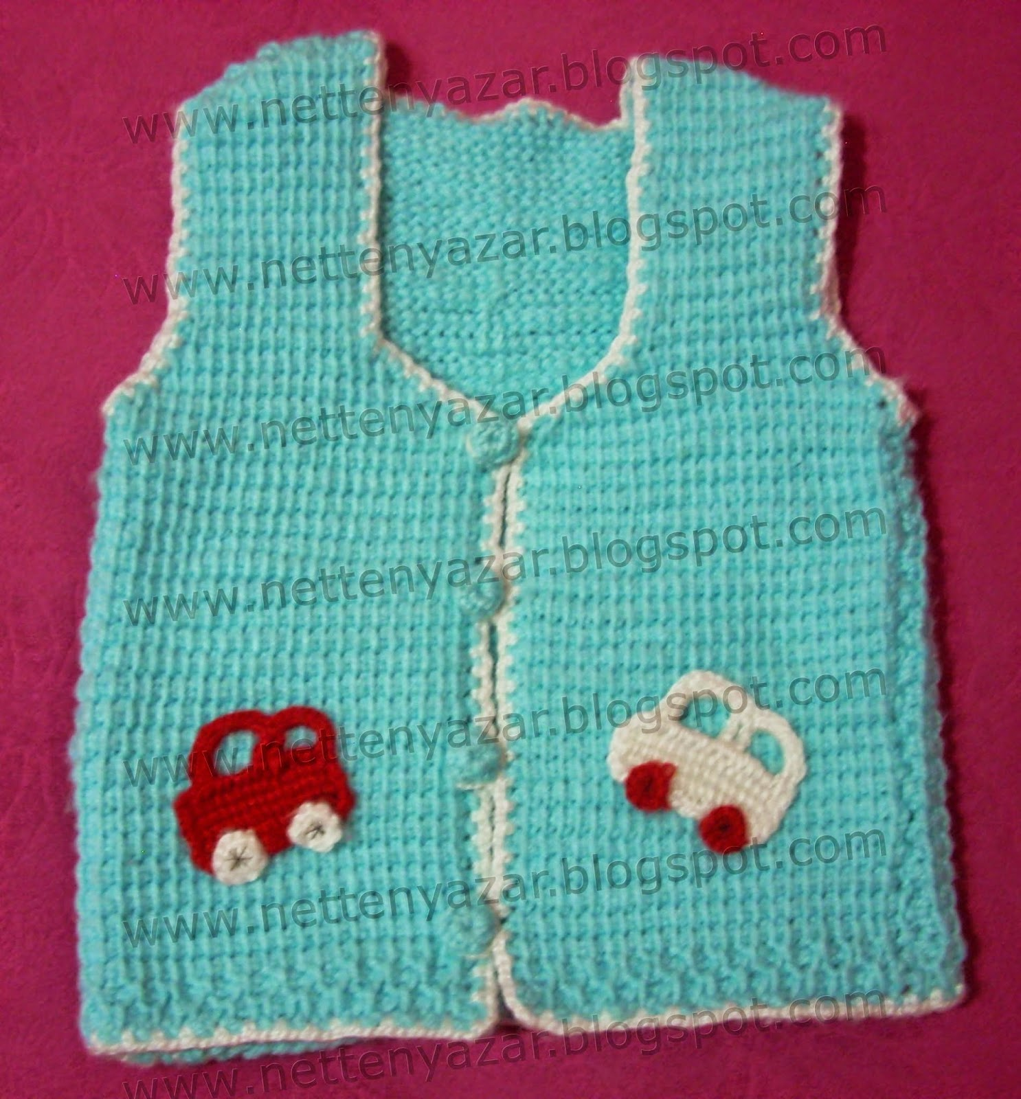 Tunisia job knitted vest