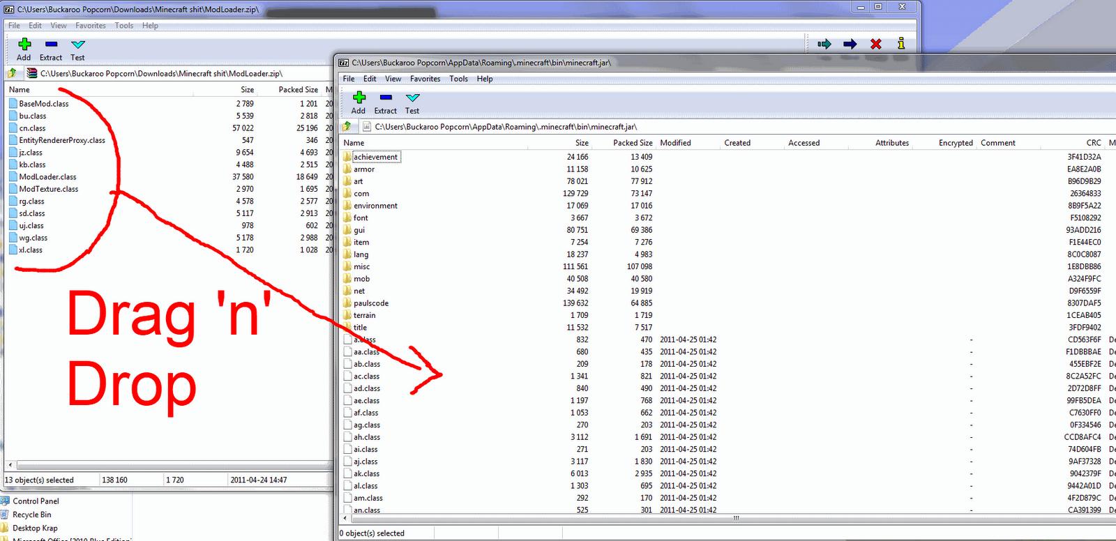 minecraft how to open mod folder