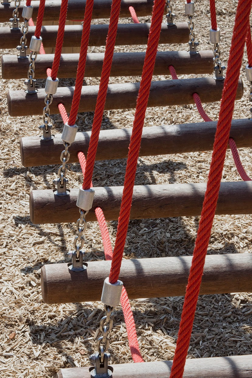 red ropes at the children's playground