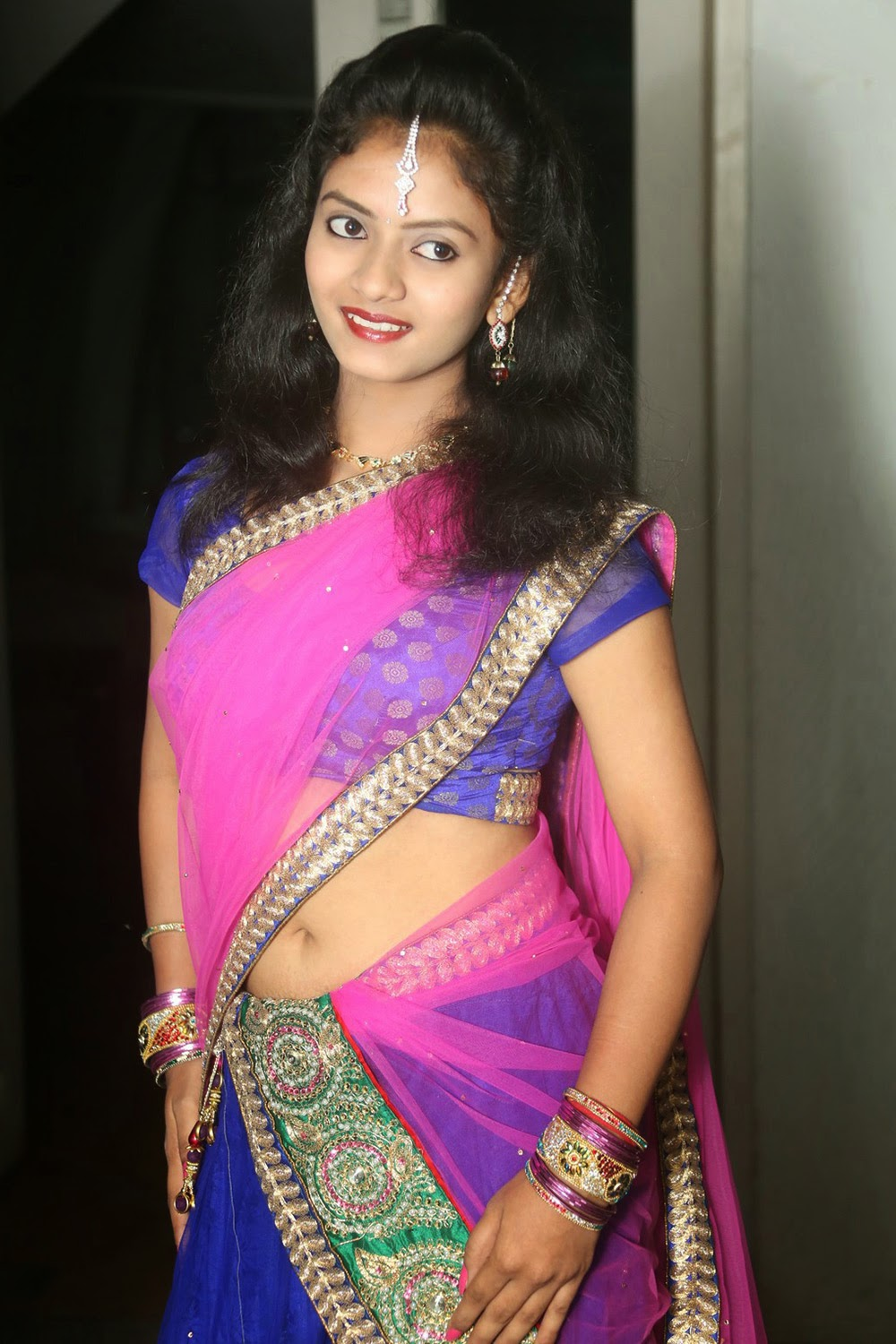 Young actress Jaya Harika in half saree-HQ-Photo-11