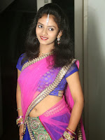 Young actress Jaya Harika in half saree-cover-photo