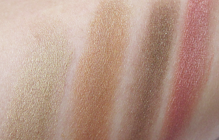 A picture of  Lavera Illuminating Eyeshadow Quattro in Indian Dream swatches