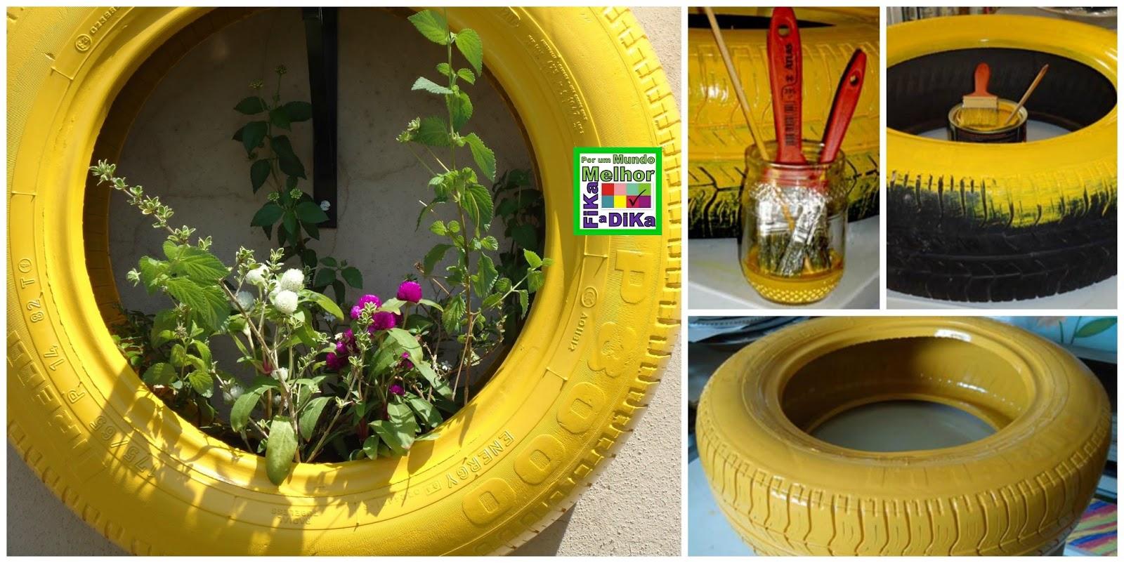 Reciclagem de Pneu na Jardinagem. #B69915 1600x802